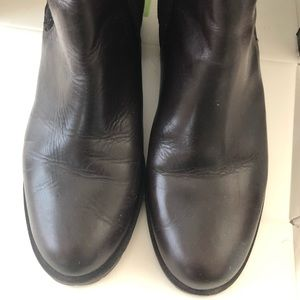 Talbots Size 8M Dark Brown Leather Ankle Boots